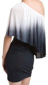Young Fabulous & Broke short dress white Size S Ombre Cascade Jersey on Tradesy