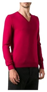 Burberry Brit Dockley Pink Elbow Patches Merino Sweater