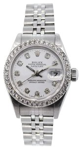 Rolex Rolex Datejust Stainless Steel Custom Diamond Ladies Watch
