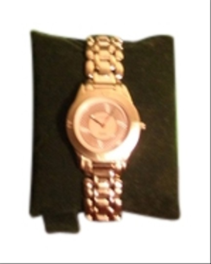 Via Spiga Stainless Steel Pink Mother of Pearl Face