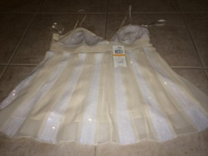 BCBG white Halter Top