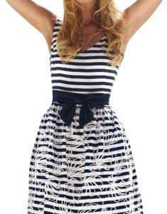 Lilly Pulitzer short dress Navy and White Striped Bow on Tradesy