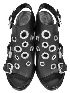 MCQ by Alexander McQueen Eyelet Black Sandals