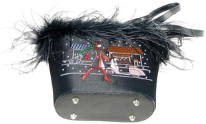Other Embroidered Satin Feathers Gift Rhinestones Shoulder Bag
