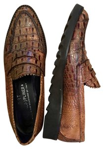 Donald J. Pliner J. Loafer brown, faux crocodile Flats