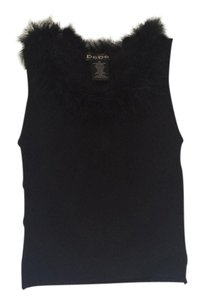 Bebe Fur Top Black