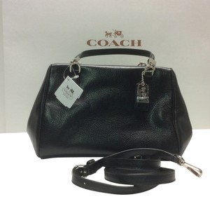 Coach Crossbody Leather Satchel in Black