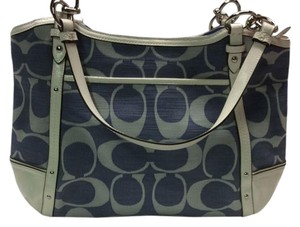 Coach Shoulder Alexandra Tote in Cobalt/Chalk
