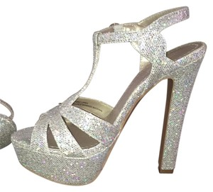 BP. Clothing silver sparkly Platforms
