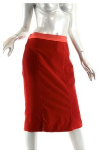 Louis Vuitton Skirt Red Cotton Velvet