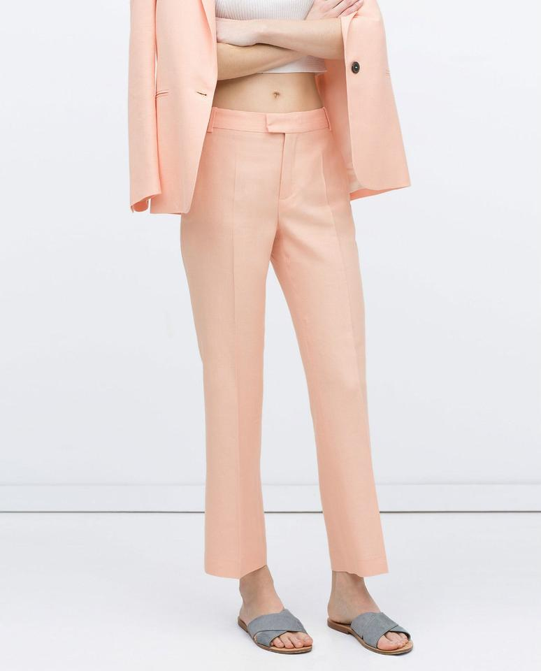 86819a2e Zara Salmon Pink Sold Out Pant Suit Size 6 (S) - Tradesy