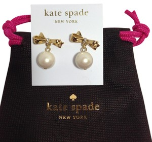 Kate Spade KATE SPADE PEARL DROP BOW EARRINGS