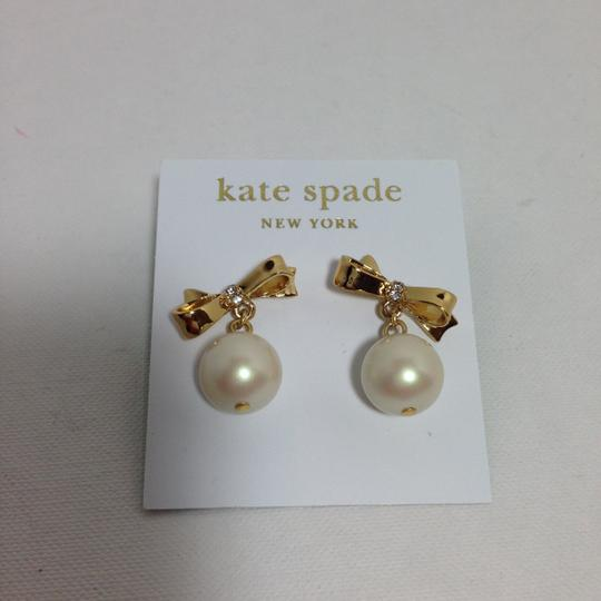 Kate Spade KATE SPADE PEARL DROP BOW EARRINGS Image 1