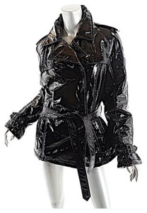 Allegri Milano Trench Patent Leather Leather Jacket