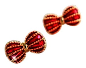 Betsey Johnson Betsey Johnson Red bows earrings