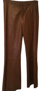 Banana Republic Boot Cut Pants Brown leather