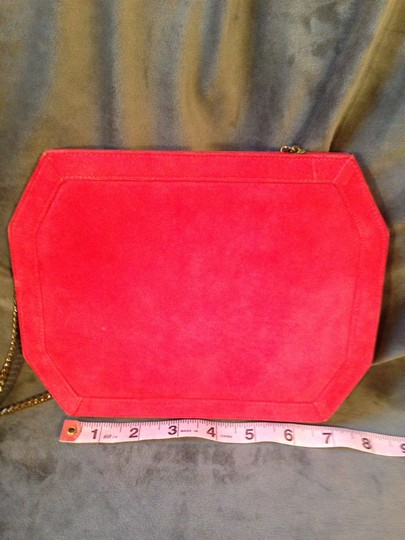 Jay Herbert New York Vintage Suede Convertible With Chainlink Strap Fuschia/Pink Clutch