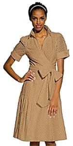 Diane von Furstenberg short dress Beige on Tradesy