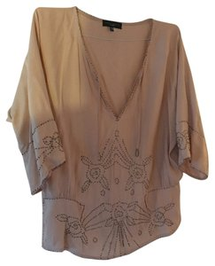 Sanctuary Clothing Embellished Embellished Light Pink Beaded Top Blush
