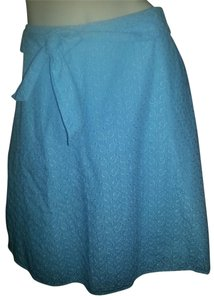 Boston Traders Eyelet Blue Summer Comfortable Skirt aqua