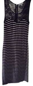 Charlotte Russe Lace Fitted Striped Dress