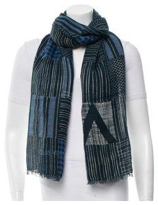 Louis Vuitton Multitonal blue, black, creme Louis Vuitton Gaston scarf New