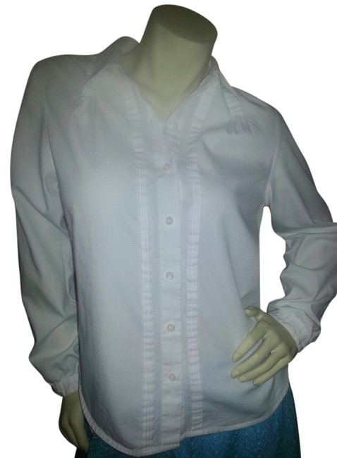 Preload https://item2.tradesy.com/images/talbots-white-pintucked-long-sleeve-dress-shirt-button-down-top-size-10-m-1067896-0-0.jpg?width=400&height=650