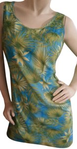 Meghan Matthews short dress Teal, green and yellow floral on Tradesy