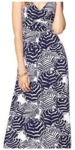 White and navy Maxi Dress by Lilly Pulitzer