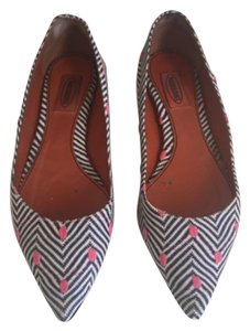 Missoni Blue, white, and pink Flats