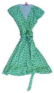 Lilly Pulitzer short dress Green/White Wrap Adriel on Tradesy