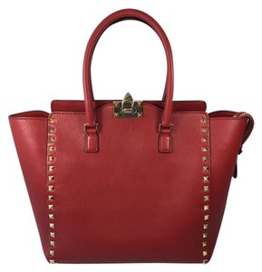 Valentino Rockstud Tote in Red