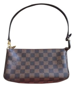 Louis Vuitton Damier Accessories Pouch Wristlet in Damier Ebene