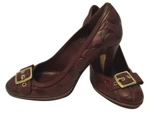 Coach Italian All Leather Brown Pumps