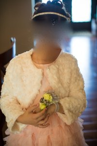 Flower Girl Dress & Faux Fur Bolero Jacket