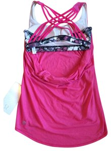 Lululemon New With Tags Lululemon Wild Tank Size 4 Pink Butterfly