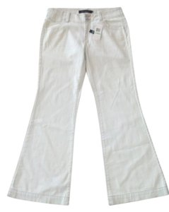 Calvin Klein Color= 17g Cute Small Pocket On Waist Band Trouser Jean Jeans Summer Jean Wide Leg Pants Light Blue / Bleach Out