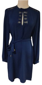 Diane von Furstenberg short dress Dark blue on Tradesy