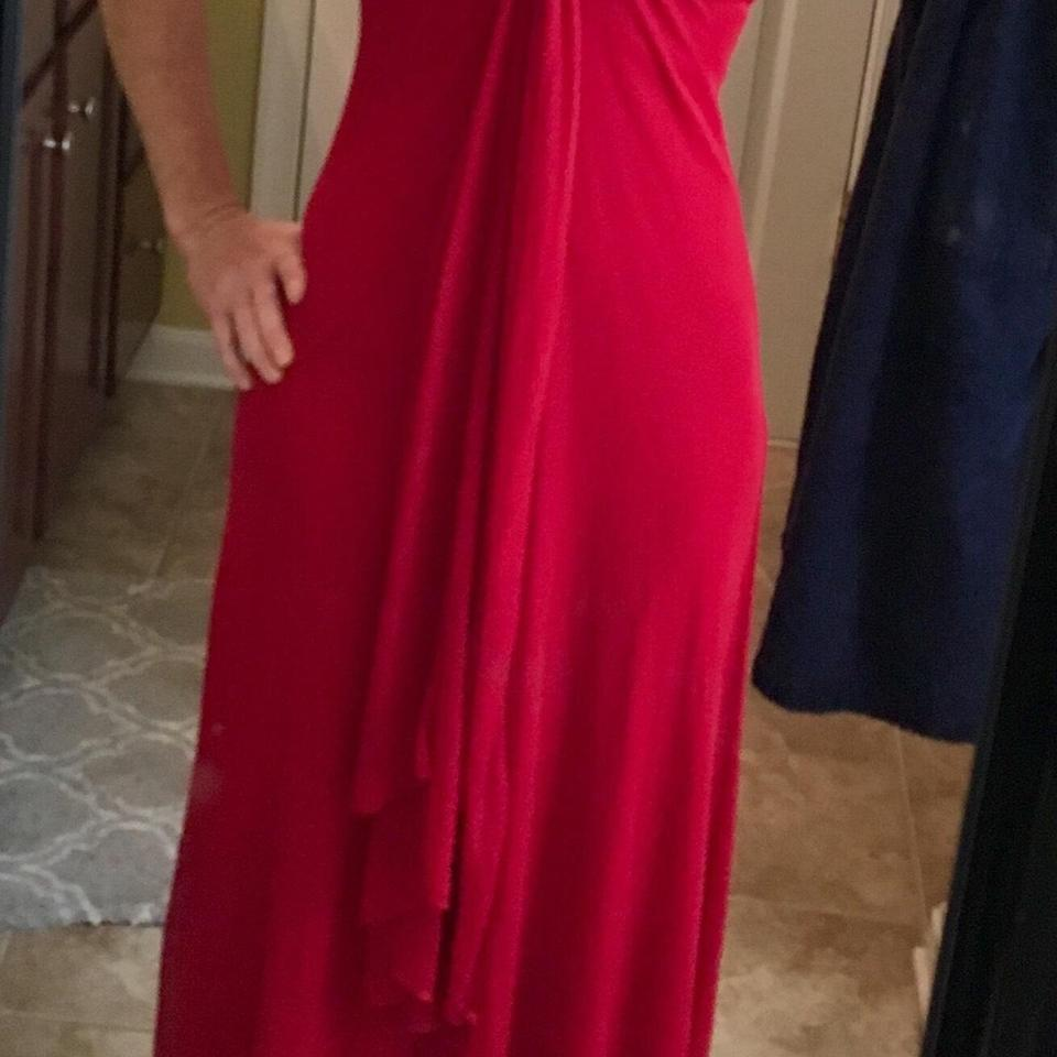 B. Darlin Red Gown Gown Flowing Long Formal Dress Size 2 (XS) - Tradesy