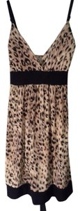 Feathers short dress Leopard on Tradesy