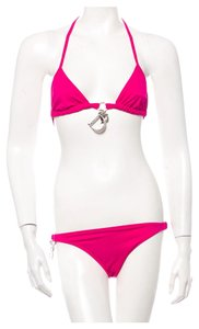 Dior Fuschia pink Christian Dior two piece Diorissimo monogram charm swimsuit New