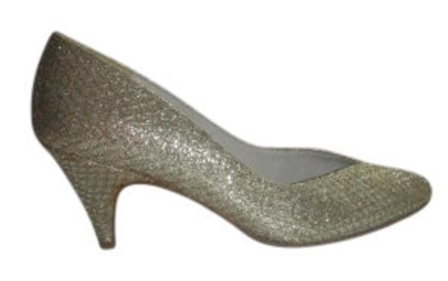 Item - Gold and Silver Glitter Vintage Pumps Size US 9 Wide (C, D)