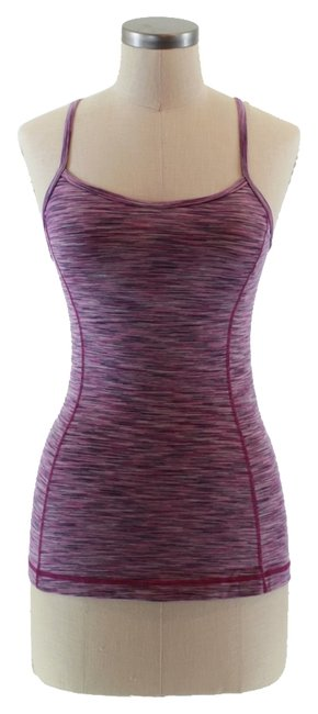 Item - Purple Space Dye Workout Yoga Activewear Top Size 6 (S, 28)