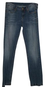 Rerock For Express Distressed Size 8 Stich Straight Leg Jeans-Distressed