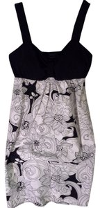 Connected Apparel short dress Black/white Floral on Tradesy