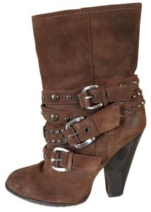 Steve Madden Suede Silver Hardware Brown Boots