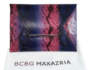BCBGMAXAZRIA Exotic Pink Electric blue, black, pink, purple, python Clutch