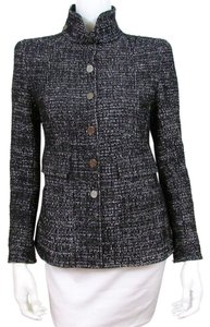 Chanel CHANEL Size 38 Black Tweed Blazer Jacket CHANEL Black Tweed Jacket 38