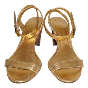 J.Crew Ankle Strap Metallic Gold Sandals