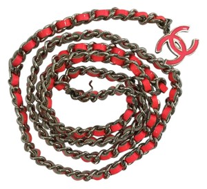 Chanel Chanel Hot Pink Classic Chain Logo Belt